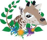 Giraffe in wreath Royalty Free Stock Photo
