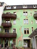Giraffen-und Affe-Kunst im Kunsthofpassage-` Kunsthof-Durchgang ` gelegen im Neustadt von Dresden, Deutschland Lizenzfreies Stockfoto