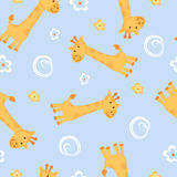 Giraffes seamless background Royalty Free Stock Photos