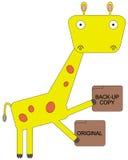 Giraffet kan reserv Arkivbild