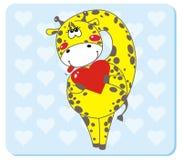 giraffförälskelse royaltyfri illustrationer