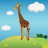 giraffillustration Arkivbilder