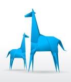 girafforigamivektor Royaltyfri Bild