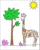 Giraffteckning Fotografering för Bildbyråer