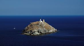 Giraglia island stock photo