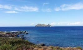 Giraglia island in Corsican cape royalty free stock image