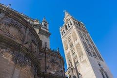 Giralda在塞维利亚,安大路西亚,西班牙 免版税图库摄影
