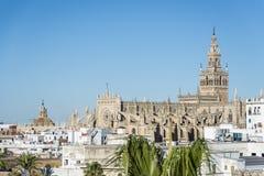 Giralda在塞维利亚,安大路西亚,西班牙 免版税库存照片