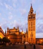 Giralda塔-塞维利亚主教的座位的钟楼 免版税库存图片