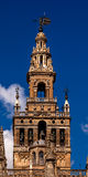 Giralda钟楼塞维利亚大教堂西班牙 免版税库存照片