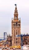 Giralda钟楼塞维利亚大教堂西班牙 库存照片