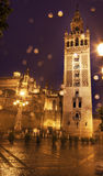 Giralda钟楼塞维利亚大教堂西班牙 库存图片