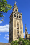 The Giralda, bell tower of the Cathedral of Seville in Seville, Spain Royalty Free Stock Images