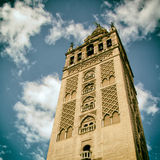 The Giralda (Bell Tower) of the Cathedral of Seville. Stock Photography