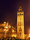 Giralda Bell Tower Seville Cathedral Spain Stock Image