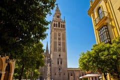 Giralda en Sevilla Fotos de archivo libres de regalías