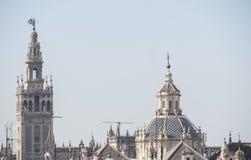 Giralda i Seville święty Mary widzieć Cathedal, Seville, zdrój fotografia stock