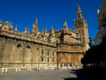 Giralda, Sevilla, Spain. It is the largest Gothic cathedral and the third-largest church in the world stock photo