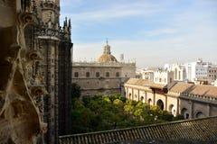 Giralda, Sevilla (Spain). Views from the Giralda, in Sevilla Royalty Free Stock Images