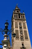 The Giralda in Seville. The part of architecture Seville, Spain royalty free stock photo