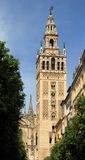 Giralda in Seville. Giralda, the bell tower for the Cathedral of Seville, Andalusia, Spain Royalty Free Stock Photos