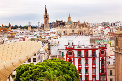 Giralda Seville Cathedral El Salvador Spain Royalty Free Stock Photo