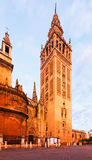 Giralda torn seville spain Arkivbild