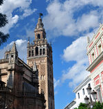Giralda Tower. The Giralda Tower located in the Spanish city of Seville, built in the Almohad period and expanded over the centuries Royalty Free Stock Photography