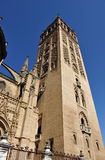 Giralda Tower, Cathedral of Seville, Andalusia, Spain Royalty Free Stock Photo