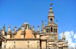 The Giralda Tower, Cathedral of Seville, Andalusia, Spain Stock Photography