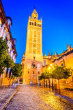 Giralda tower in Sevilla, Andalusia, Spain Royalty Free Stock Photos