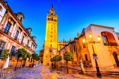 Giralda tower in Sevilla, Andalusia, Spain Stock Images