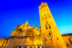 Giralda tower in Sevilla, Andalusia, Spain Royalty Free Stock Photo