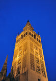 The Giralda Tower at sunset, Cathedral of Seville, Andalusia, Spain Royalty Free Stock Images