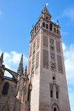 Giralda tower. View of the Giralda bell tower in Seville, Spain Royalty Free Stock Photos