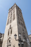 Giralda-Turm, Sevilla-Kathedrale, Sapin Lizenzfreies Stockfoto