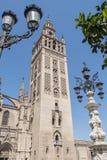 Giralda-Turm, Sevilla-Kathedrale, Sapin Stockbild
