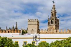 Giralda wierza w Seville, Hiszpania Obrazy Royalty Free