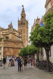 Giralda wierza w Seville katedrze Zdjęcie Royalty Free