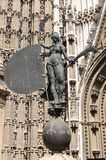 Giraldillo的雕象在塞维利亚 库存图片