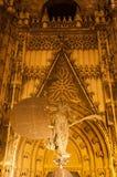 Giraldillo. Of Giralda in Sevilla with yellow light royalty free stock image