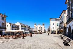 Giraldo Square, Evora Photos libres de droits