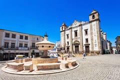 Giraldo Square, Evora Royalty Free Stock Images