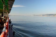 Girando sul fiume di Irrawaddy Regione di Mandalay myanmar fotografia stock
