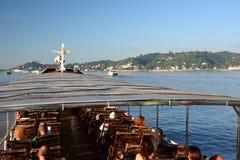 Girando sul fiume di Irrawaddy Sagaing myanmar fotografie stock