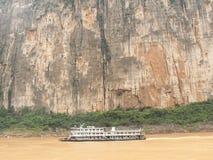 Girando sul fiume Yangtze, la Cina Fotografia Stock Libera da Diritti