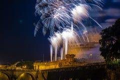 Girandola en Roma Imagenes de archivo