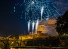 Girandola in Rome Royalty-vrije Stock Afbeeldingen
