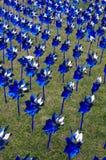 Girandole blu e d'argento Fotografia Stock