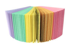 Girante laterale del documento colorato dell'ufficio fotografia stock libera da diritti